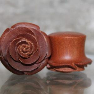 3D ROSE WOOD PLUG
